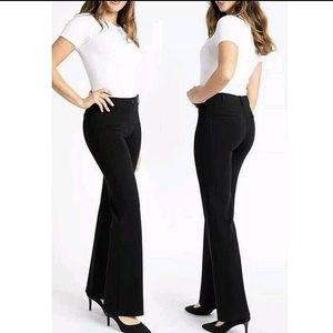 Betabrand Dress Pant Yoga Black Bootcut Small Long